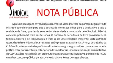 Nota Pública do Sindical