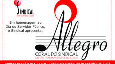 Amanhã tem apresentação do Allegro!