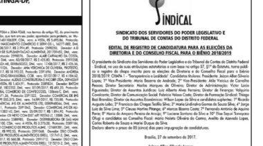 Termina prazo para registro de candidaturas para as eleições do Sindical