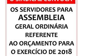 ASSEMBLEIA ORÇAMENTO 2018