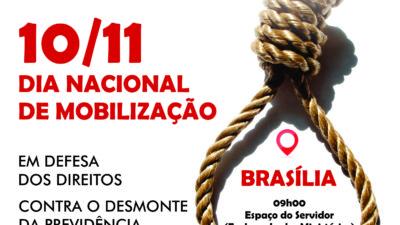 DIA NACIONAL DE MOBILIZAÇÃO EM DEFESA DOS DIREITOS