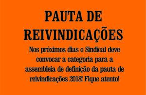 PAUTA DE REIVINDICAÇÕES