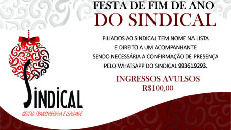 CONFRATERNIZAÇÃO DO SINDICAL