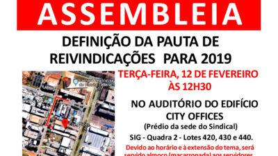 ASSEMBLEIA- PAUTA DE REIVINDICAÇÕES 2019