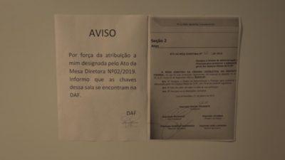 Sala da Liderança do Bloco PT/Psol na CLDF é lacrada por diretor da 2ª Secretaria, ligada a Robério Negreiros