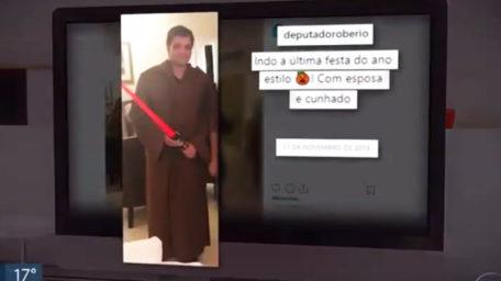 Deputado distrital Robério Negreiros assina ponto mesmo estando fora do País