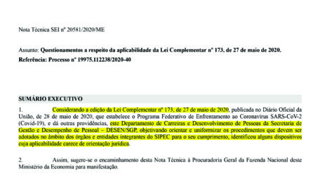 Lei Complementar 173/2020 não atinge promoções e progressões de servidores
