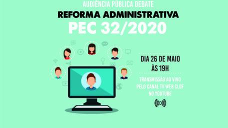 Sindical participa de audiência pública sobre Reforma Administrativa